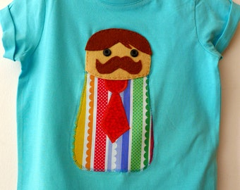 Customizable Moustache Man T-Shirt