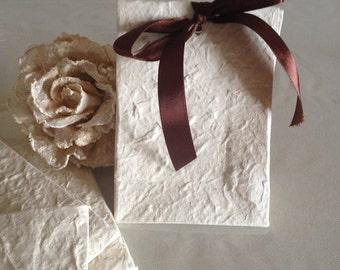Mulberry paper bag, handmade mulberry bag, ceremony paper bag,sacchetti carta di gelso,m original gift, assortimento 10 sacchetti bomboniera