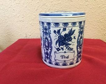 Delft Tea Jar