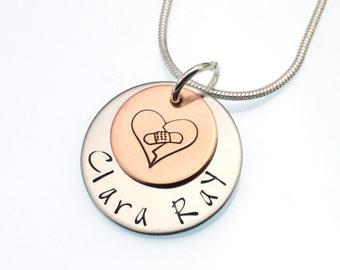 Clara Ray Fundraiser | CHD Awareness Necklace | Hand Stamped Necklace | CHD Necklace | Clara Ray Jewelry | Cause Jewelry | Awareness Jewelry