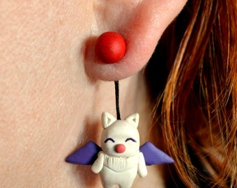 Moogle earring from Final Fantasy and Kingdom Hearts. Select 1 earring or a pair (2 in ''quantity)