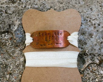 Hand-stamped {Take the Leap} Wrap Bracelet