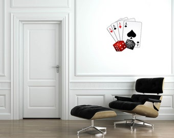 Cards and Dice Wall Decal