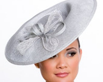 Silver hat-fascinator-hatinator perfect for the Kentucky Derby