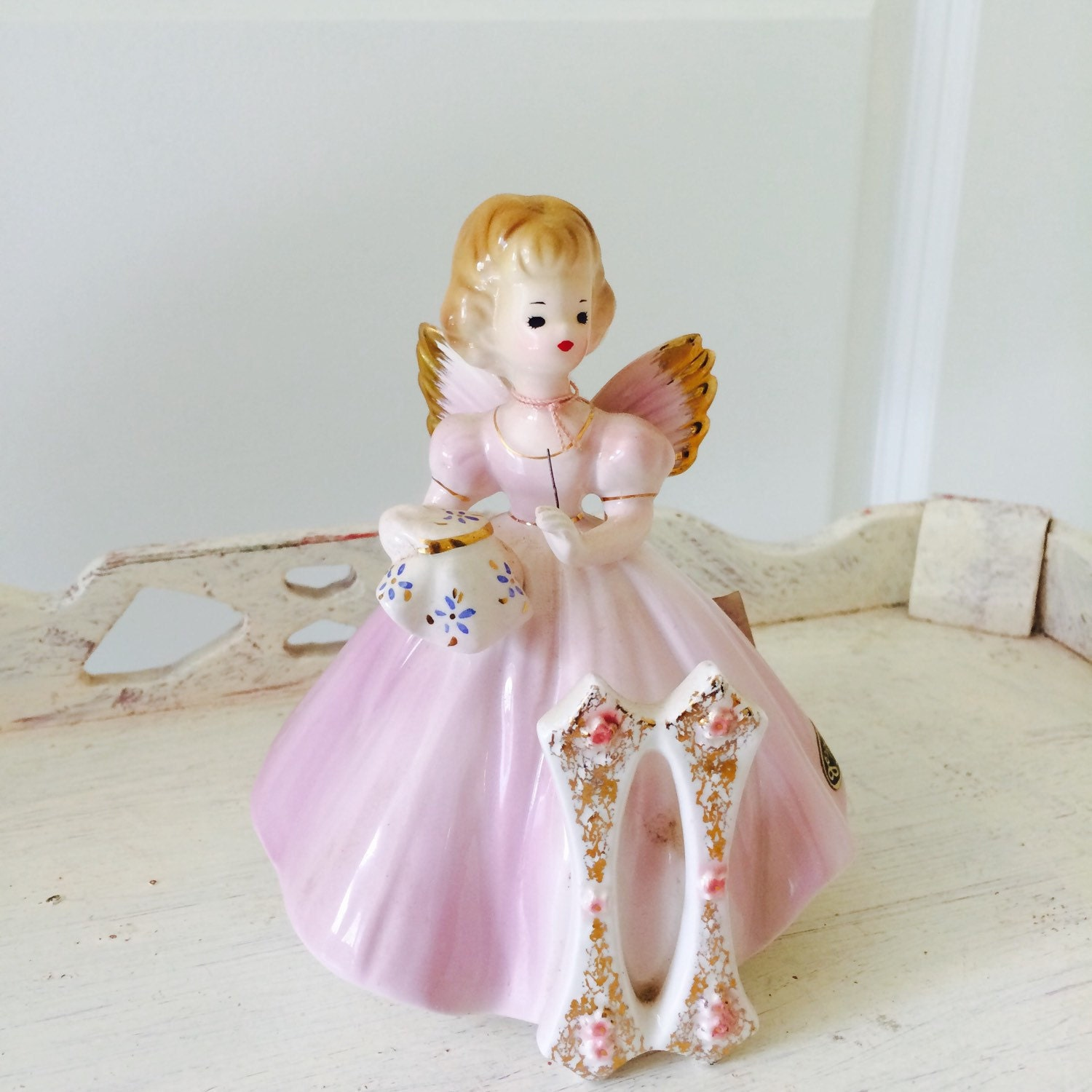 Josef Originals Porcelain Angel Figurine 11 Birthday Angel