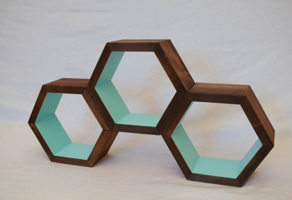 hexagon shelf geometric shelf shelving by roamingrootswoodwork. Black Bedroom Furniture Sets. Home Design Ideas