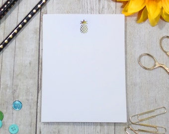 Pineapple Foil Notepad