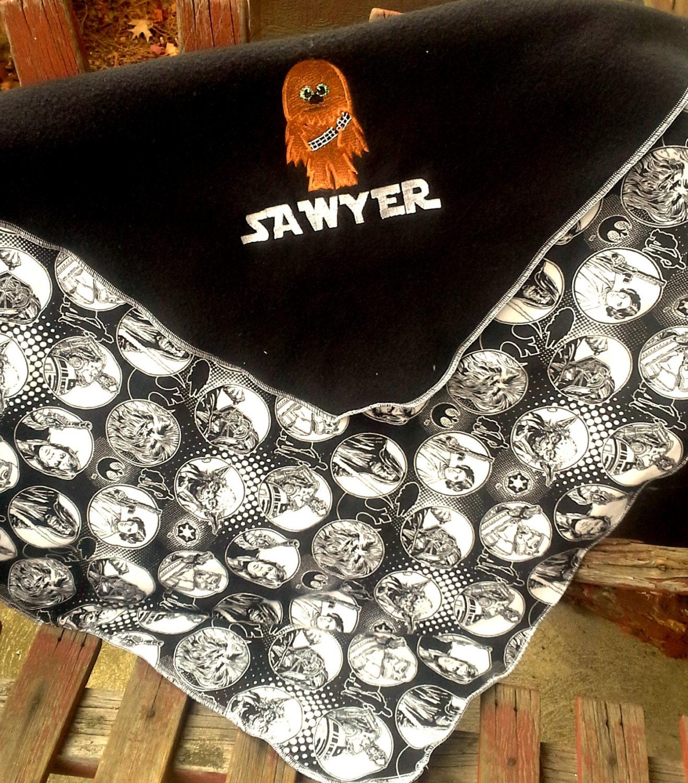 chewbacca fleece baby kinder decke personalisierte name. Black Bedroom Furniture Sets. Home Design Ideas