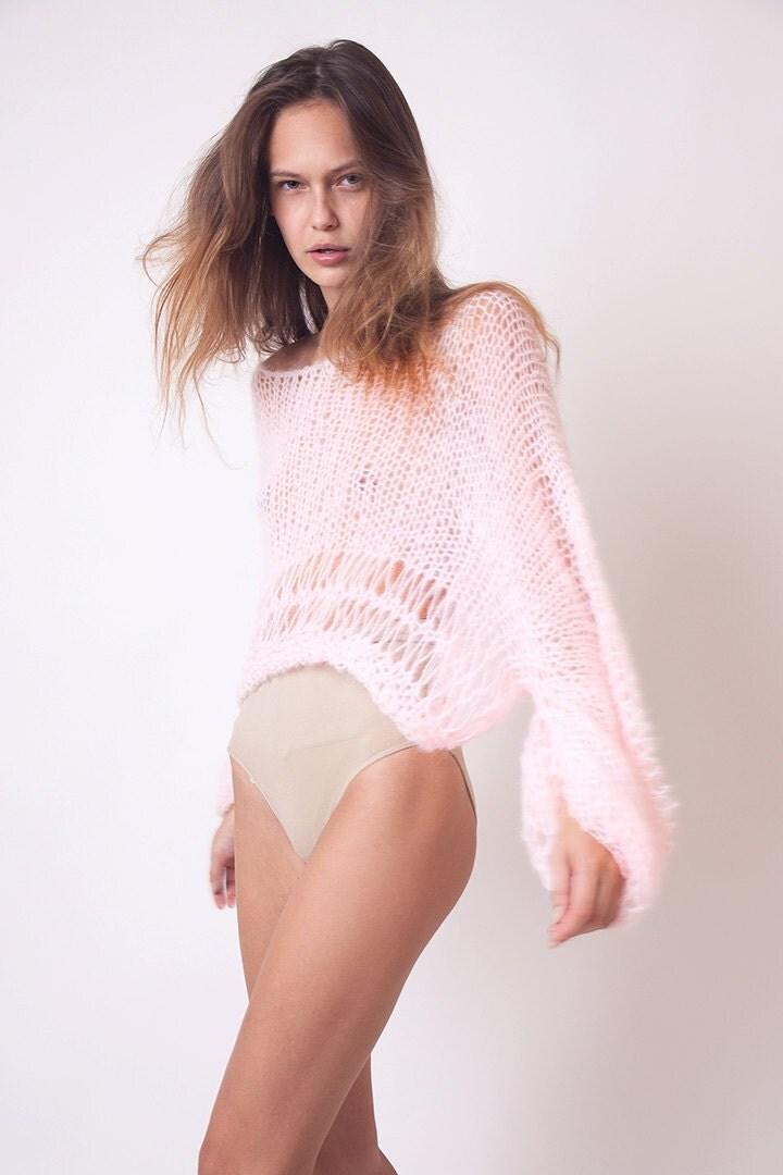 Fluffy White Cardigan Sweater