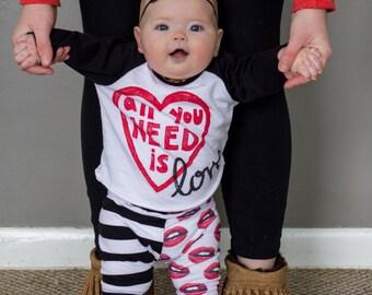 valentines day shirt, kids valentine shirt, All you need is love shirt, valentine shirts for boys, heart t shirt, heart tshirt,