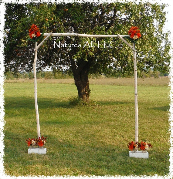 Outdoor Wedding Arch: White Birch Wedding Arch/Outdoor Wedding By NaturesAllLLC
