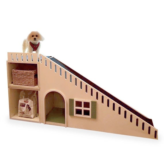 All You Need To Know About Building Stairs In Your House  C2NyYXBlLTEtWDAzUW00: Personalized Designer Dog Ramp / House With Storage Cubes
