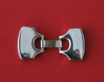 5/3 MADE in EUROPE zamak flat cord clasp, shiny snap clasp, 20mm flat cord clasp(ABLZ59S) qty1