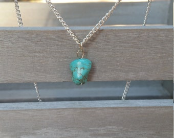 Small Turquoise Chunk Necklace