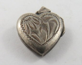 Crafted Silver Heart Shaped Locket