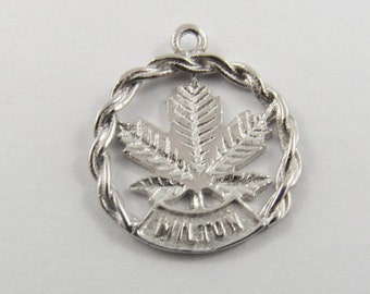 Milton Ontario Canada Sterling Silver Charm or Pendant.
