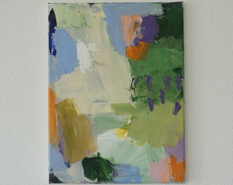 Original abstract painting abstract art, modern painting, acrylic contemporary painting, wallart, landscape, green, purple, beige, white,