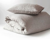 Linen Duvet Cover Stone Washed Softened & 3pc Sets SEAMLESS Natural Organic 100% Flax King Queen Full Double BEST Prices of CHRISTMAS Sales