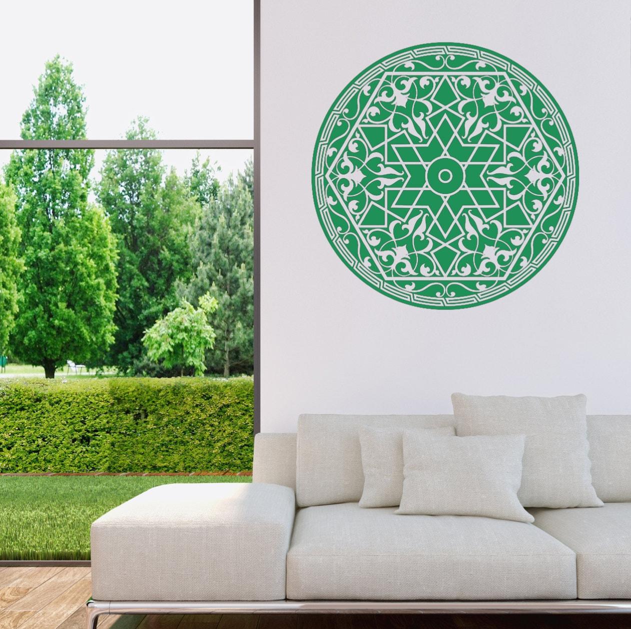 islamisches ornament wandtattoo von lebensfreudeladen auf etsy. Black Bedroom Furniture Sets. Home Design Ideas