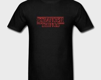 Mens Unisex T-shirt Stranger Things Logo Netflix Tv Series