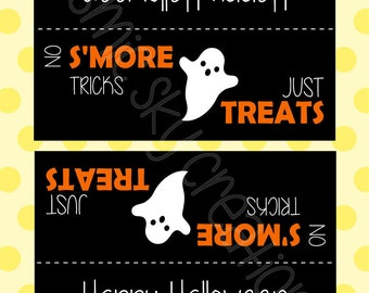 S'Mores Halloween Treat Bag Topper