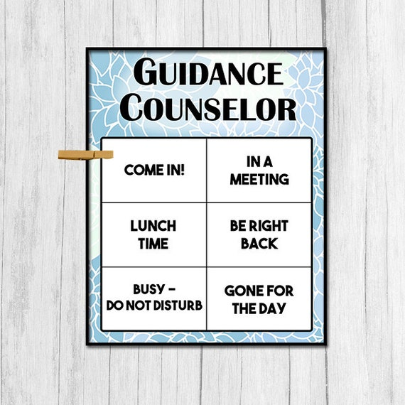 Guidance Counselor Door Sign Digital Download Gift for