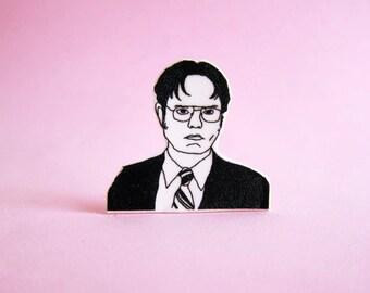 Dwight Schrute Pin / The Office / Stocking Stuffer / Boyfriend Gift