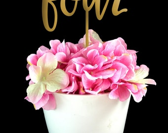 Gold Wedding Table Numbers - Wooden table numbers