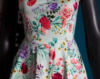 Vintage flower style dress
