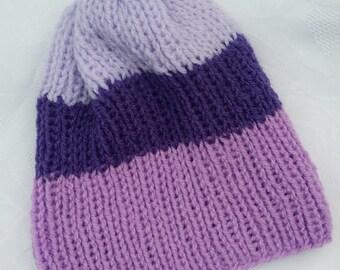 Purple Trio Hat