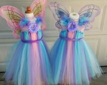 Abby Cadabby Inspired tutu dress for baby girl and toddler girl; Sesame Street birthday dress; Fairy tutu dress; Abby Cadabby costume