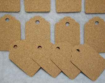Natural Cork Hang Tags. Great for Gifts, Weddings, Party Favors, Scrapbooking, etc...