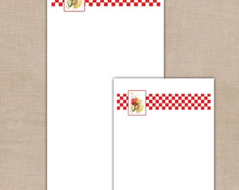 Red Check/Water Color Notepad Set