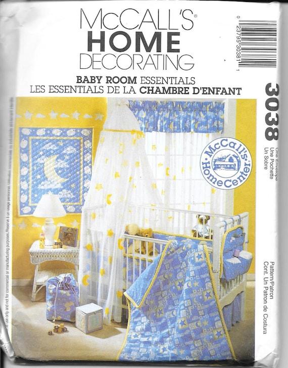 Baby Bedroom Essentials: McCalls 3038 OOP Baby Room Essentials/ Baby Nursery Home