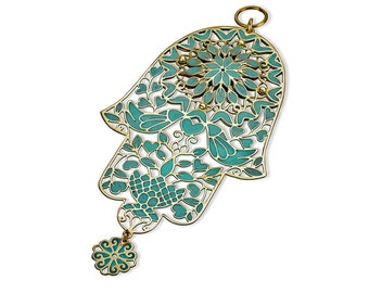 Judaica, Doves Hamsa Doves, Made in Israel, Bat Mitzva Gift, Jewish Art, Wall Decor