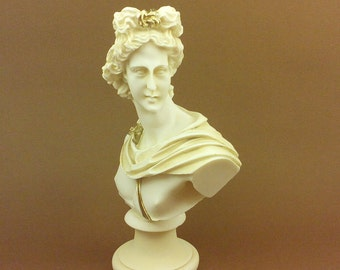 Apollo Alabaster statue bust patina aged Ancient Greek God of light