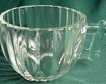 Jeannette National Ribbed Pattern Punch Cups