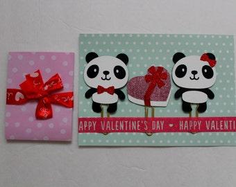 Valentine Panda and Sticky Note Planner Clip Ser