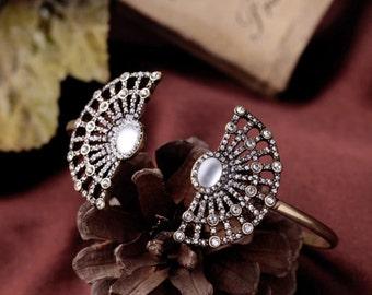 Crystal bracelet, bangle, cuff