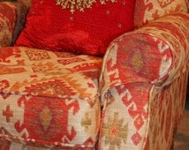 """Red Cushion Covers,DECORATIVE PILLOW,LUXURY Cuhion covers,18 """" x18"""" , Gold cushion covers"""