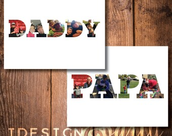 Father's Day Daddy Photo Collage // Father's Day Papa Photo Collage //  DIY Printable // Digital File