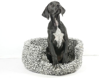 Felt Ball Handmade/Felted Dog Bed Grey / Pet Supplies / Pet Furniture / Dog Cocoon/Australian Seller