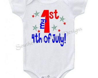 My 1st Fourth of July Infant Bodysuit Creeper
