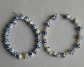 Porcelain Bead Bracelet
