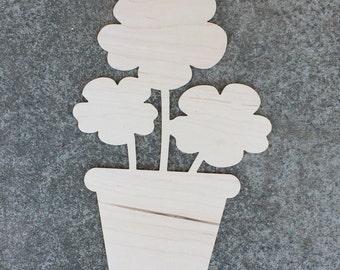 FAST SHIPPING Potted Flower Pot Door Hanger Wooden Unfinished Front Door Hanger