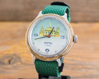 Vintage Vostok Boctok Wostok Muslim Arabic men's watch, russian watch, vintage mens watch, ussr cccp soviet watch