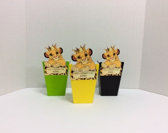 Adorable,Simba Favor Boxes,Lion King Boxes,Simba Loot boxes,Loot Bags,Birthday Decorations,Party Supplies,Baby Shower