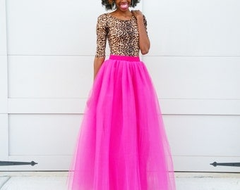"Tulle Maxi Skirt ""Kennedy"" - 4 Colors Available"