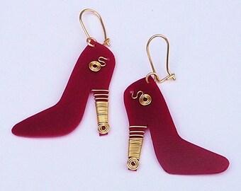 RecuperArte Heels: recycled plastic bottles earrings