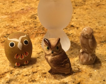 Shipping Included - Collection of 4 Vintage Owls - Shipping Included